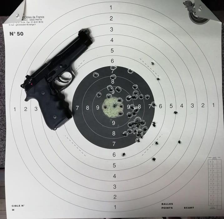 Beretta 92 25 mètres